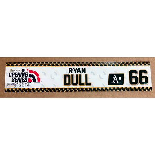 Photo of 2019 Japan Opening Day Series - Game Used Locker Tag - Ryan Dull -  Oakland Athletics