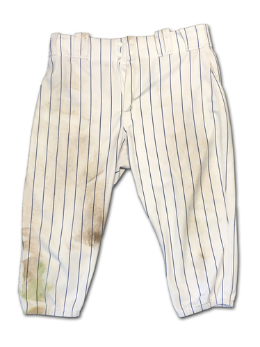 Photo of Kyle Schwarber Game-Used Pants -- Schwarber 2 Doubles, 1 RBI (35th of Season) -- Size 36-41-19 -- White Sox vs. Cubs -- 6/19/19