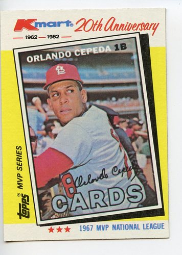 Photo of 1982 K-Mart #12 Orlando Cepeda: 67NL