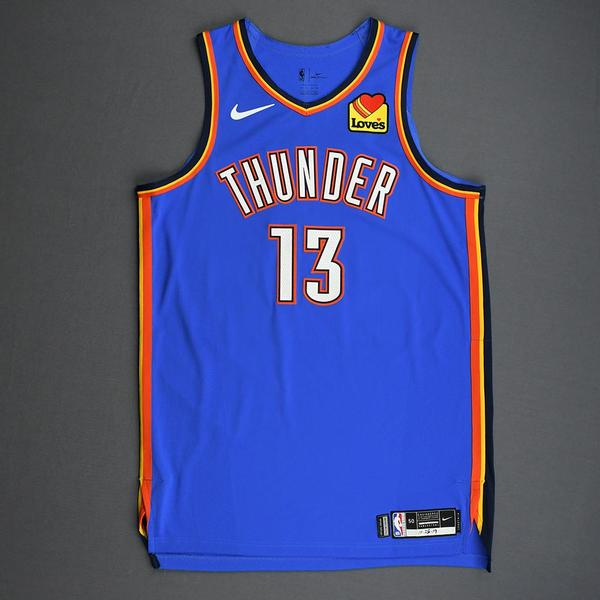 Image of Justin Patton - Oklahoma City Thunder - Game-Worn Icon Edition Jersey - 2019-20 Season - Dressed, Did Not Play