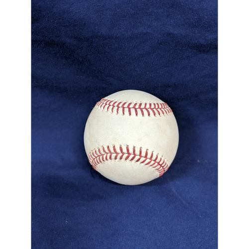 Photo of Game Used Baseball: Pitcher: Jason Vargas, Batters: David Freese (Single), Cody Bellinger (Ball in Dirt) - 5-30-2019 vs. NYM