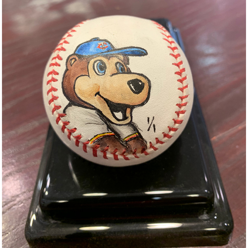 Photo of Minnesota Twins - TC Bear - Original Ball Art by S. Preston - Autographed by the Artist