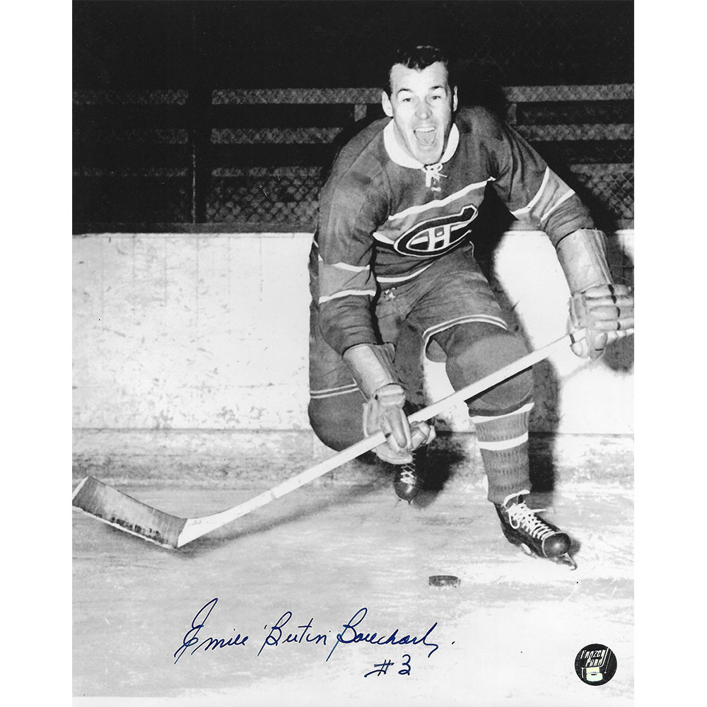 Butch Bouchard Autographed Montreal Canadiens 8X10 Photo