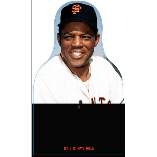 Photo of Giants Community Fund: Giants Willie Mays Cutout