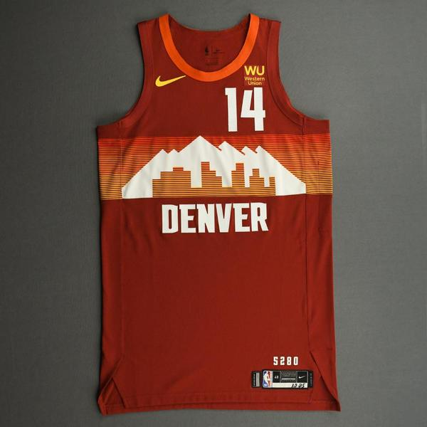 Image of Gary Harris - Denver Nuggets - Game-Worn City Edition Jersey - Christmas Day' 20
