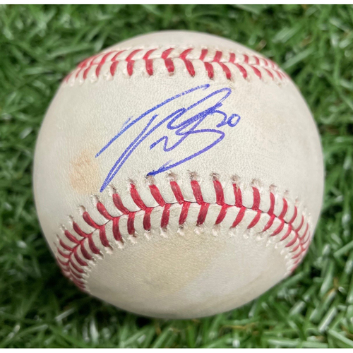 Photo of Rays Baseball Foundation: Game-Used Autographed Baseball - Tyler Glasnow - September 11, 2018 v CLE