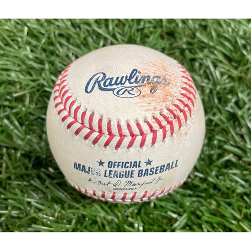 Photo of Game Used Baseball: J.P. Crawford double and Mitch Haniger single off Matt Wisler - Top 8 - August 4, 2021 v SEA