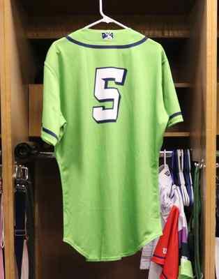 Stockton Ports Jack Winkler Asparagus jersey, #5, Size 44