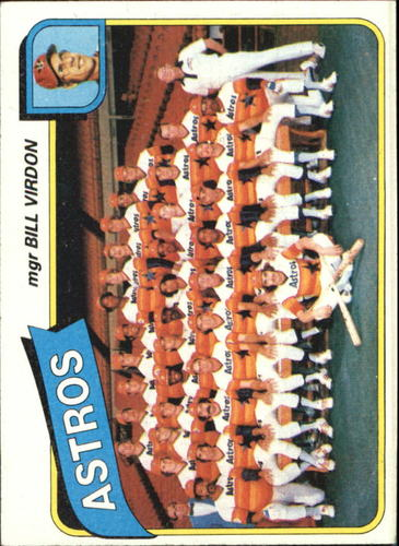 Photo of 1980 Topps #82 Houston Astros CL/Bill Virdon MG