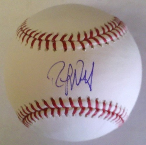 Photo of Randy Wolf Autographed Baseball