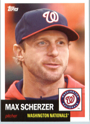 Photo of 2016 Topps Archives #50 Max Scherzer -- Nationals post-season