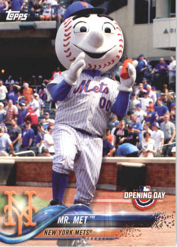 Photo of 2018 Topps Opening Day Mascots #M17 Mr. Met