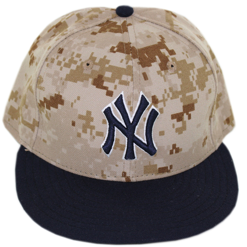 Chase Whitley Hat - NY Yankees Memorial Day 2014 Game Used  39 Camo Hat ( c2eda17e65c