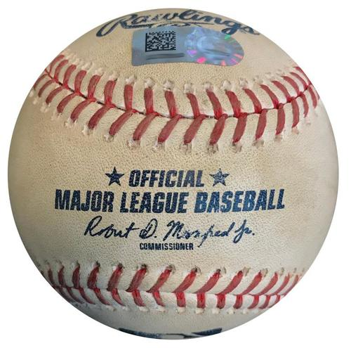 Photo of Game-Used Baseball from Pirates vs. Tigers on 4/26/18 - Vazquez to Cabrera, Foul
