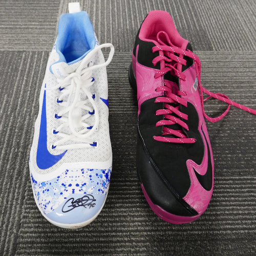 Photo of San Francisco Giants - Autographed Cleats - George Kontos - Mother's Day/Father's Day Combo Pair (Right: Father's Day/ Left: Mother's Day) - Size 12
