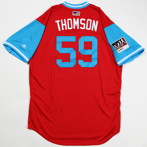 "Photo of Rob ""Thomson"" Thomson Philadelphia Phillies Team Issued Jersey 2018 Players' Weekend Jersey"