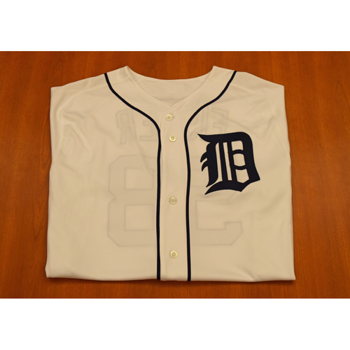 Photo of Doug Fister Autographed Detroit Tigers #58 Home Jersey