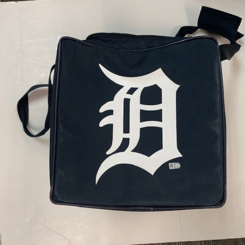 Photo of Team-Issued Detroit Tigers Square Baseball Bag