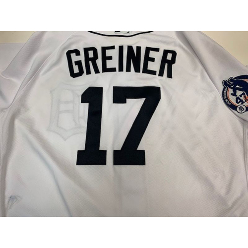 Photo of Game-Used Jack Morris Number Retirement Day Jersey: Grayson Greiner