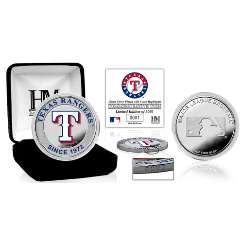 Photo of Serial #1! Texas Rangers Silver Color Coin