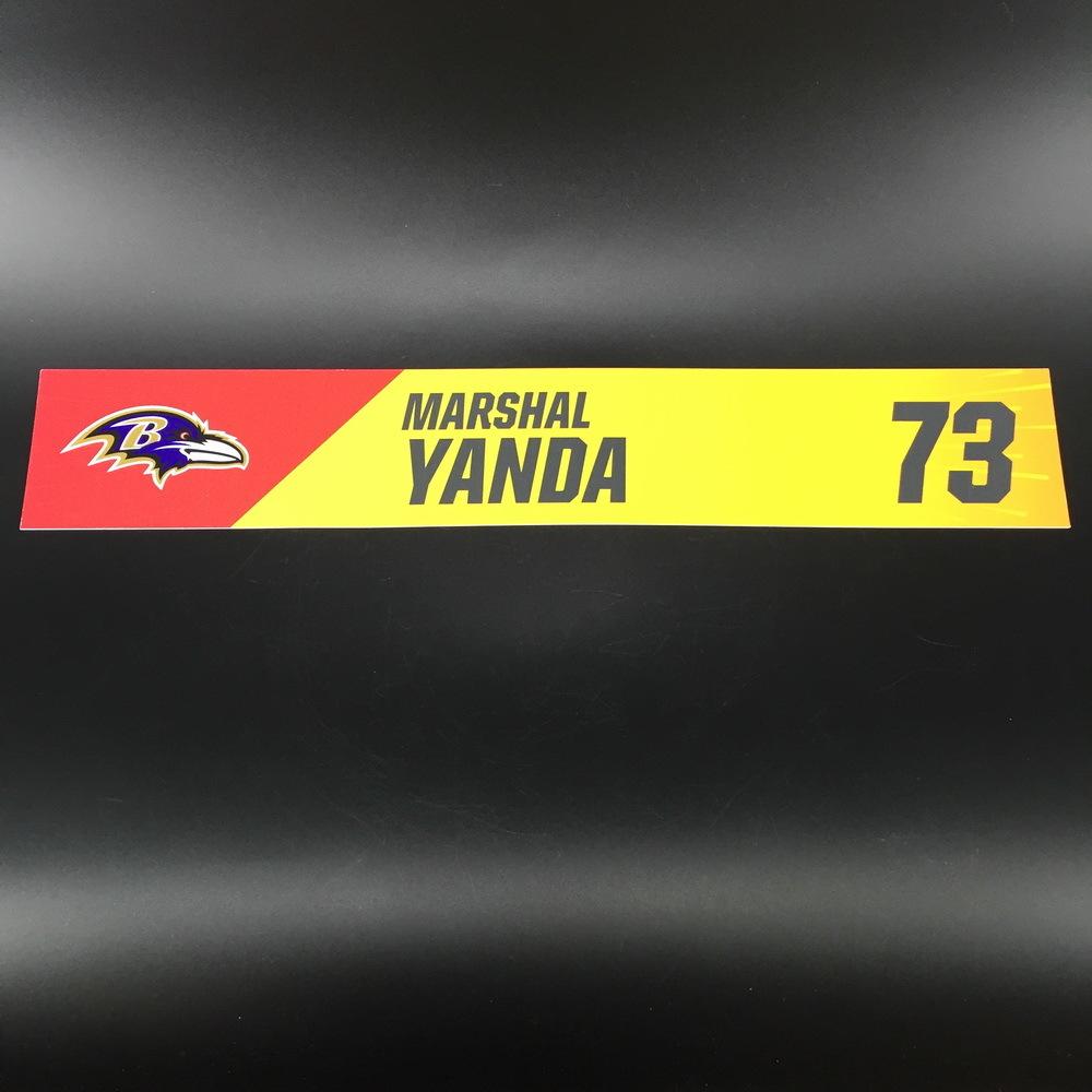 NFL - Ravens Marshal Yanda Pro Bowl 2019 Locker Room Plate