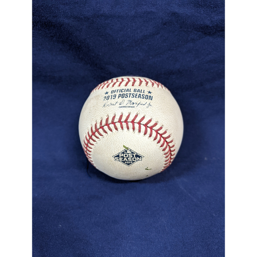 Photo of Game Used 2019 NLDS Game 1 Baseball: Pitcher: Patrick Corbin, Batters: Chris Taylor (Walk), Max Muncy (Ball in Dirt) - 10-3-2019 vs. WAS