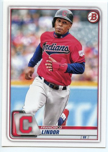 Photo of 2020 Bowman #4 Francisco Lindor