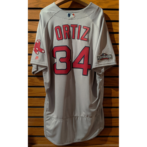 2016 David Ortiz #34 Team Issued Gray Road Jersey