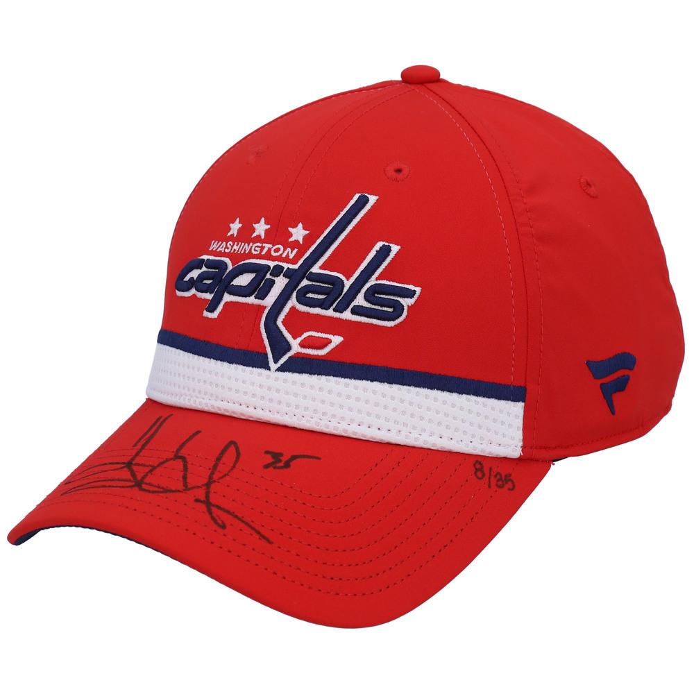 Henrik Lundqvist Washington Capitals Autographed Red Fanatics Cap - LE#1 of 35