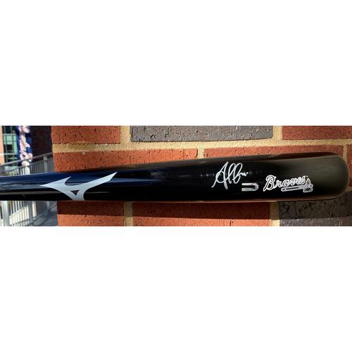 Photo of Ozzie Albies Autographed Bat