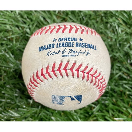 Photo of Game Used Baseball: Shane McClanahan (Rookie Season) strikes out Cedric Mullins - Top 1 - August 19, 2021