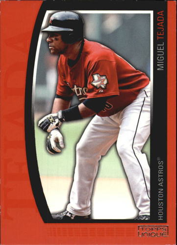 Photo of 2009 Topps Unique Red #61 Miguel Tejada