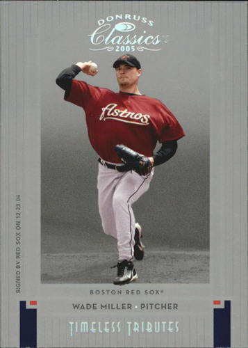 Photo of 2005 Donruss Classics Timeless Tributes Silver #152 Wade Miller