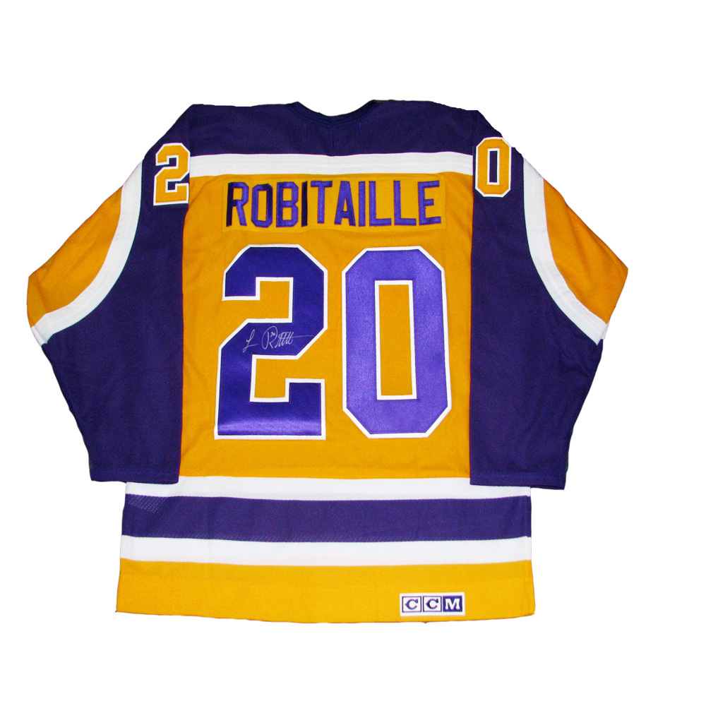 e63c08d31 new zealand luc robitaille signed retro ccm los angeles kings gold jersey  f4bb8 612dd