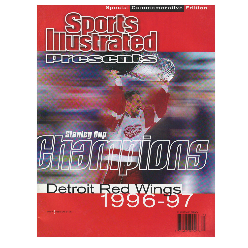 STEVE YZERMAN Detroit Red Wings 1996-97 Stanley Cup Champions Sports Illustrated Commemorative Edition
