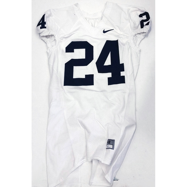 Photo of Game Used Football Jersey: White #24 (Size 42)