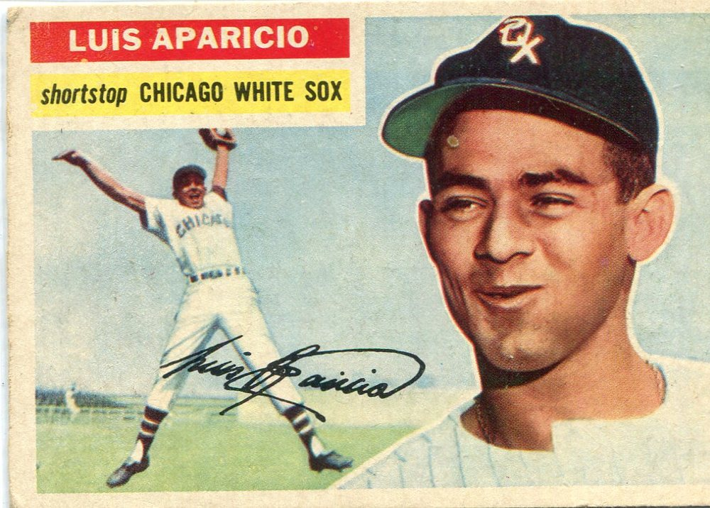 1956 Topps #292 Luis Aparicio Rookie Card -- White Sox Hall of Famer