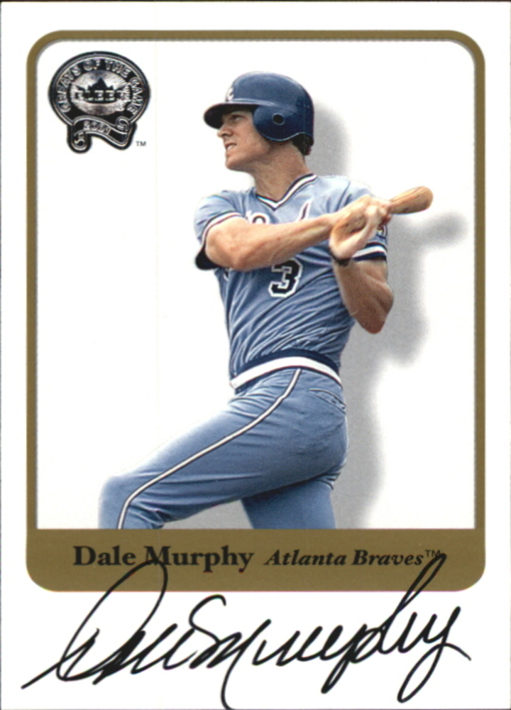 2001 Greats of the Game Autographs #57 Dale Murphy
