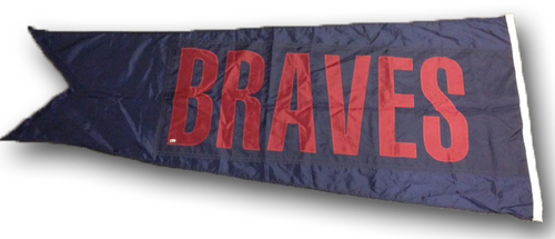 Wrigley Field Collection -- Scoreboard Flag -- Braves