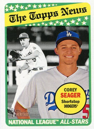 Photo of 2018 Topps Heritage #295 Corey Seager