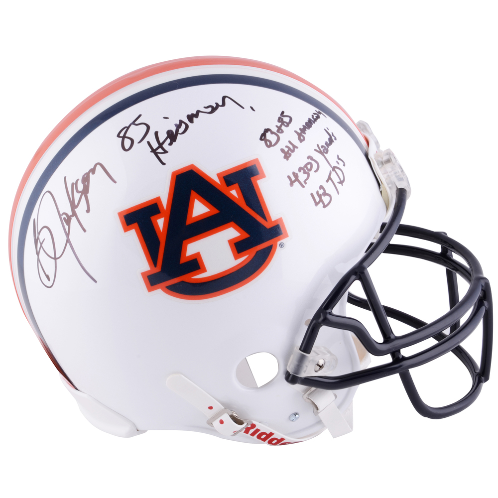 Bo Jackson Auburn Tigers Autographed Riddell Pro-Line Authentic Helmet With Multiple Inscriptions