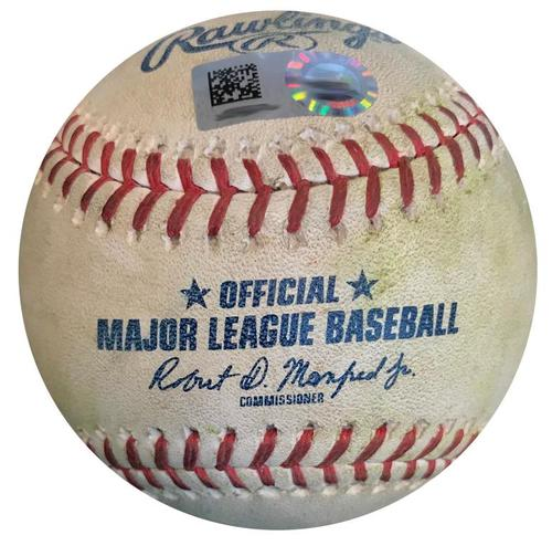 Photo of Game-Used Baseball from Pirates vs. Cardinals on 4/27/18 - Ozuna Ground Out, Molina Ground Out, Ball to DeJong