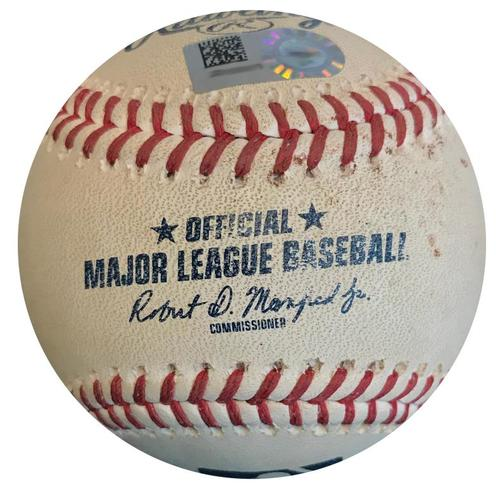 Photo of Game-Used Baseball from Pirates vs. Mets on 7/28/18 - deGrom to Moran, Ground Out