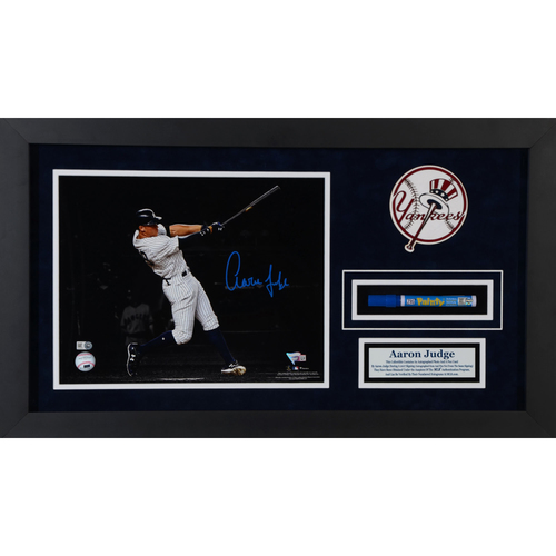 "Photo of Aaron Judge New York Yankees Framed 8"" x 10"" Hitting Photograph with Pen Used to Sign Item"