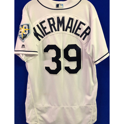 Photo of 20th Anniversary Game-Used Home Jersey: Kevin Kiermaier - September 24-26 & 28, 2018 v NYY & TOR