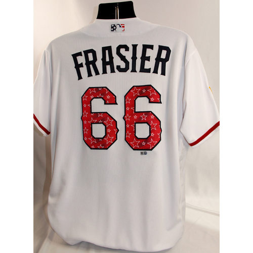 Photo of Game-Used July 4th Jersey - Josh Frasier - 7/3/18, 7/4/18