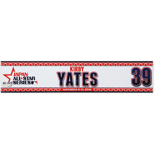 Photo of 2018 Japan Series Game-Used Locker Tag - Kirby Yates -  Padres