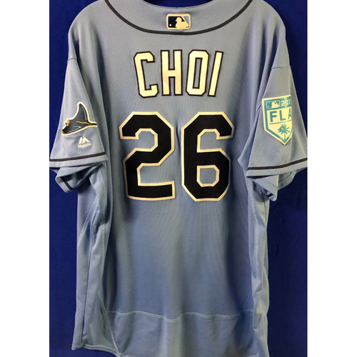 Photo of Game Used Spring Training Jersey: Ji-Man Choi - March 26, 2019 v DET