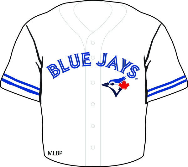 Toronto Blue Jays Home Jersey Magnet by Aminco