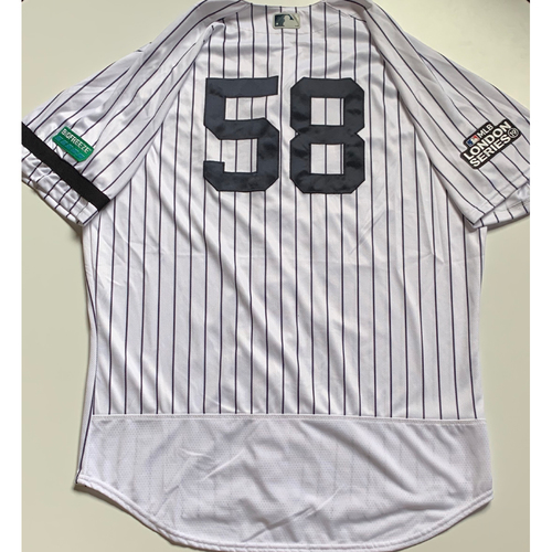 Photo of 2019 London Series - Game-Used Jersey - Larry Rothschild, New York Yankees vs Boston Red Sox - 6/29/19